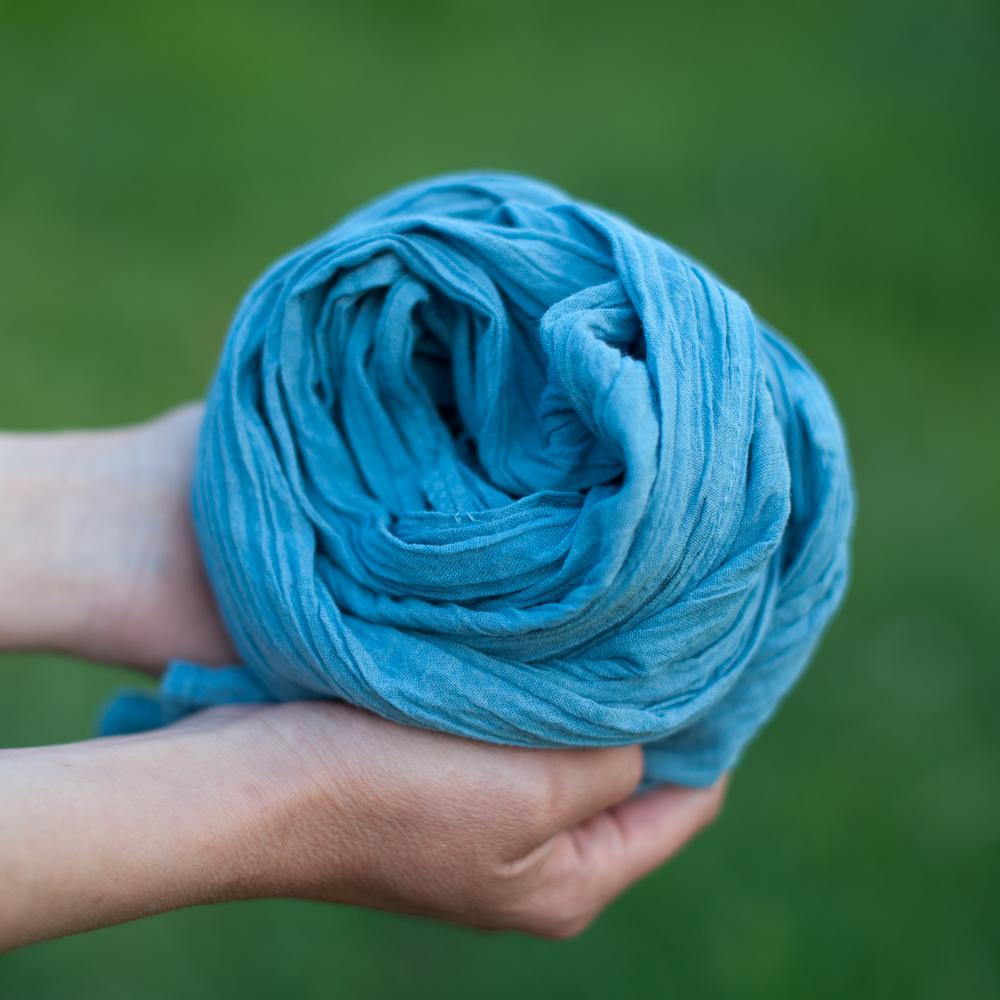 Ch che bleu pastel en coton bio pelure d 39 0ignon - Teinture tissus naturelle ...