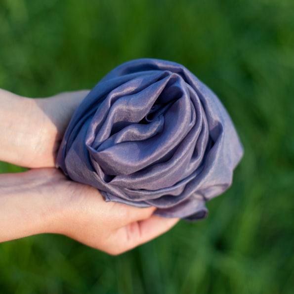 Foulard en soie Parme