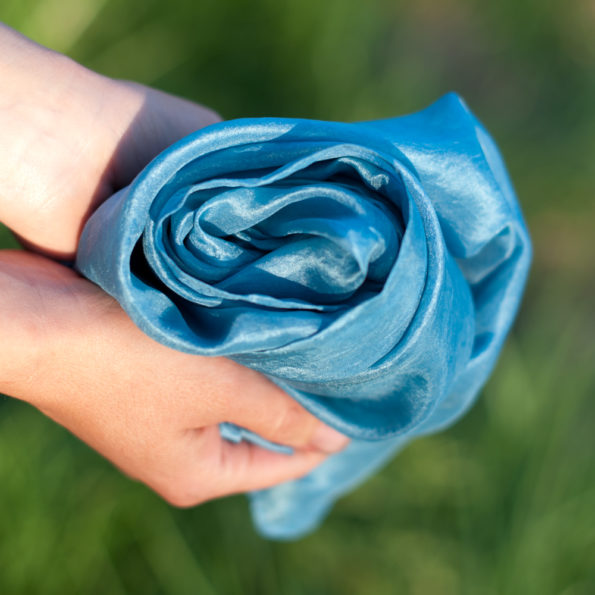 Foulard en soie Bleu medium