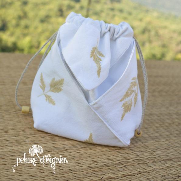 Sac origami – Impressions végétales – Cerfeuil sauvage