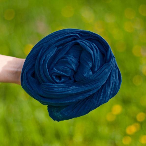 Chèche voile de coton bio Indigo | Bleu de minuit