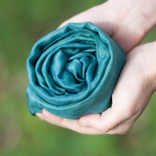 Foulard en soie Vert d'eau