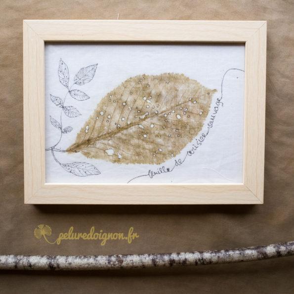 Cadre Tatakizome | Feuille de Cerisier sauvage